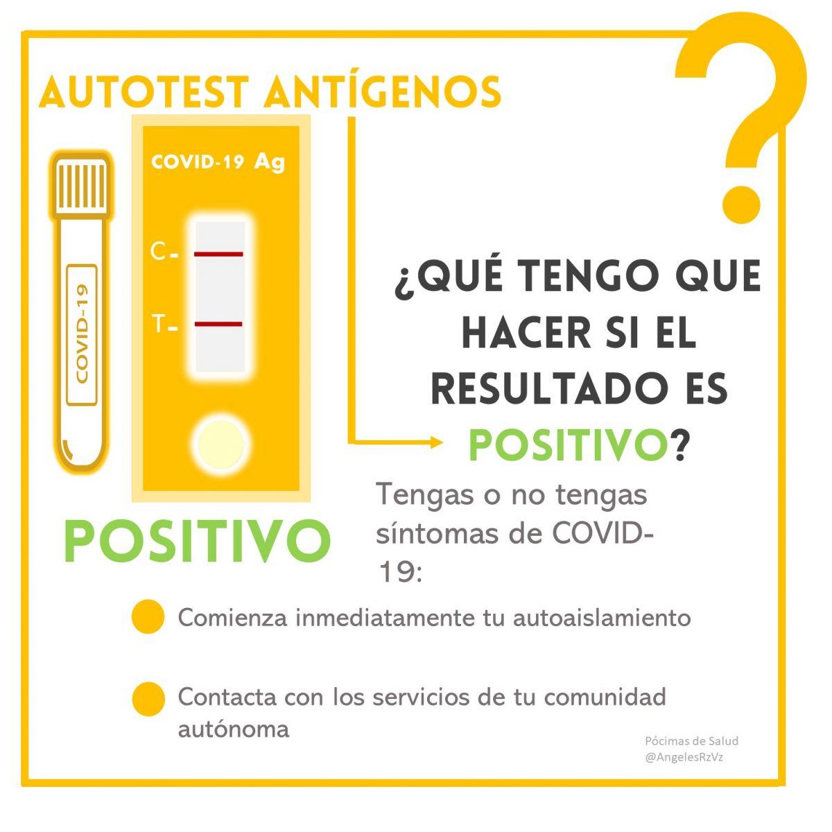Qué hacer si el test de autodiagnóstico es positivo